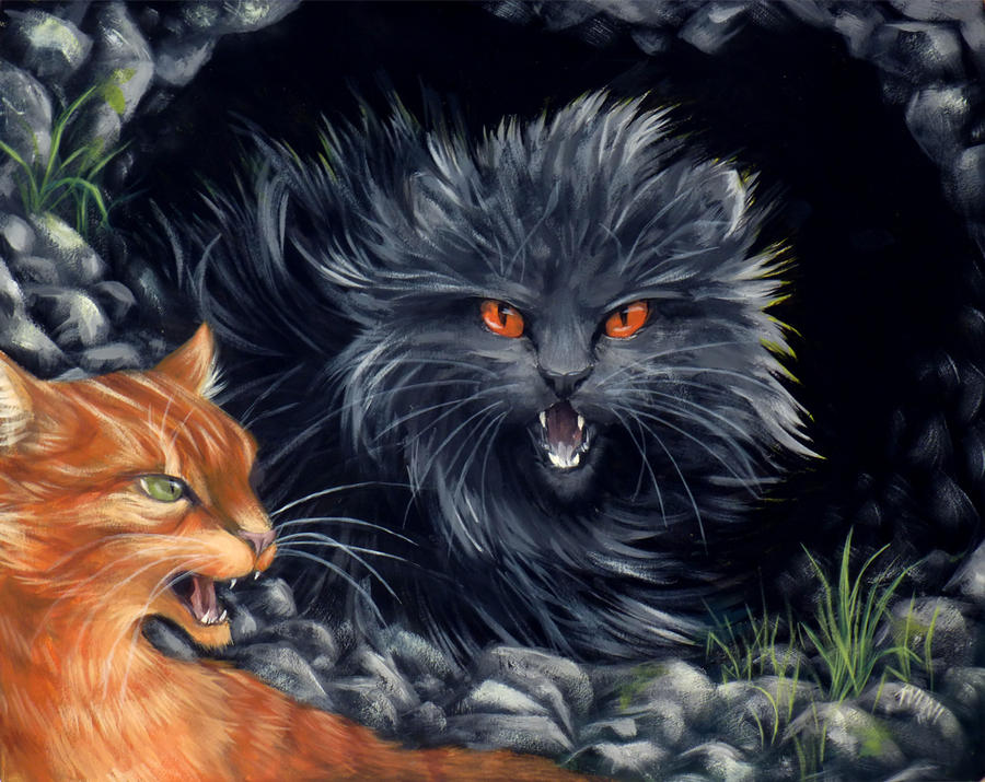 Yellowfang and Firepaw by kuiwi