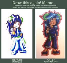 Before and after chibi Korducha by yoshitaka