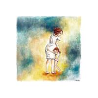2013 Acrylique, mere et fille II - copyrigh