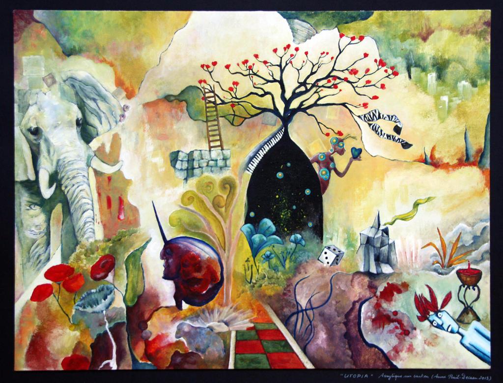 2013, Acrylique, Utopia by ABDportraits