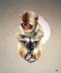 D'or, Petit macaque, 2019, Anne BAIL-DECAEN