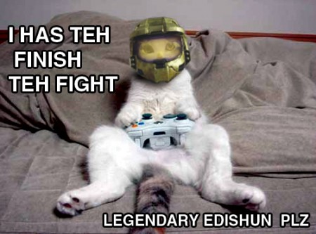 Funny Cat Halo3 by Eeveeisgerman