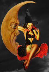 Halloween pin-up girl