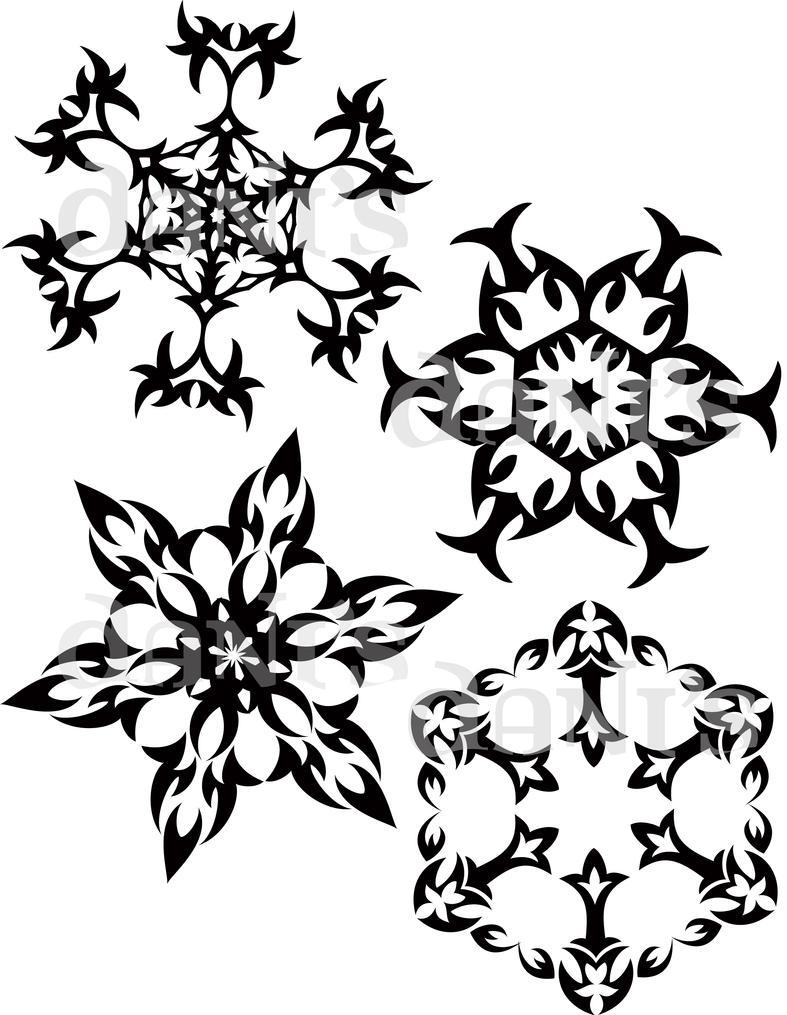 215b84866cbf3 Tribal Snowflakes by white-tigress-12158 on DeviantArt