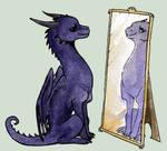 Chibi Violet Mirror Dragonet