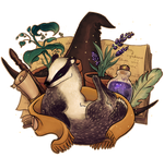 Magical Student's Spirit Badger Design by persian-pirate