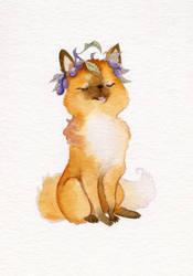Plum Wreath Fox