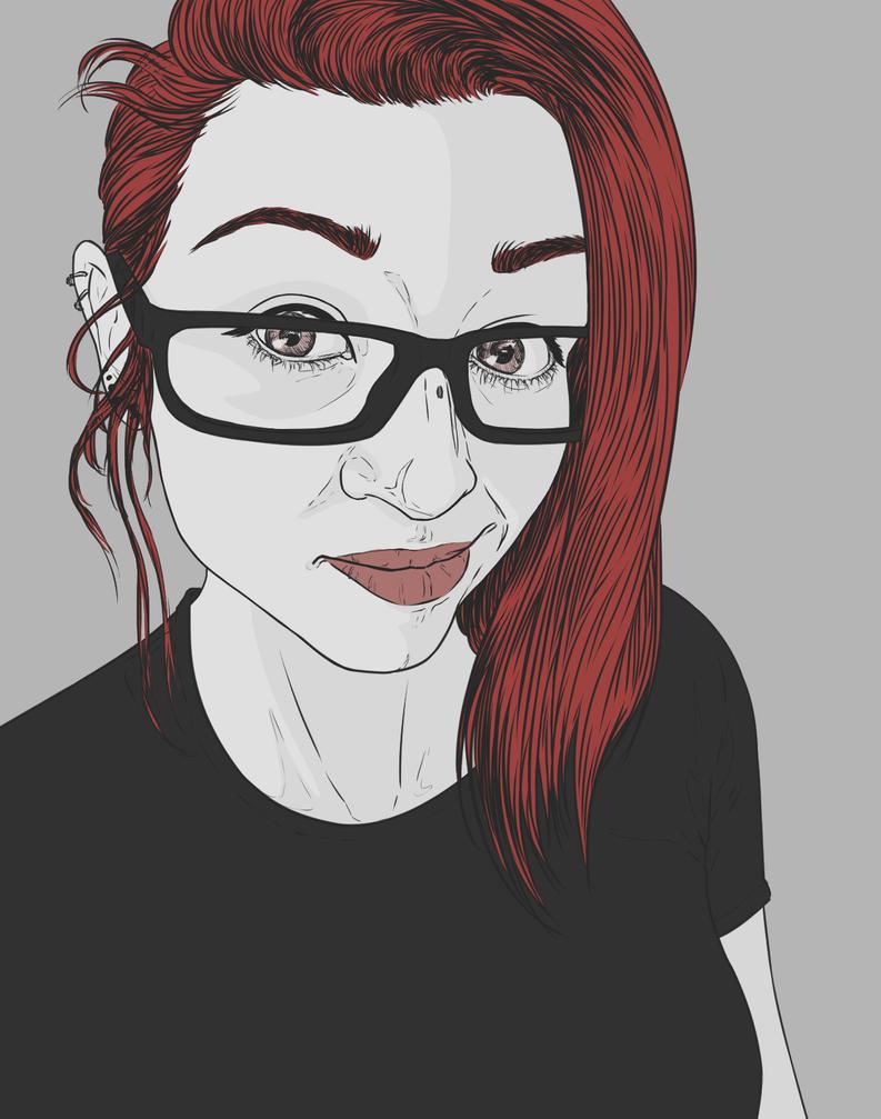 Selfportrait - 1st of November by Vixie-Mnsv