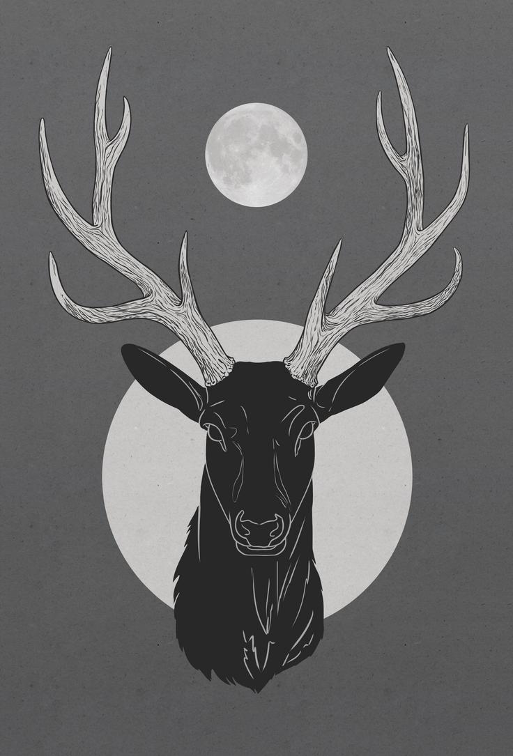 Moon antlers by Vixie-Mnsv