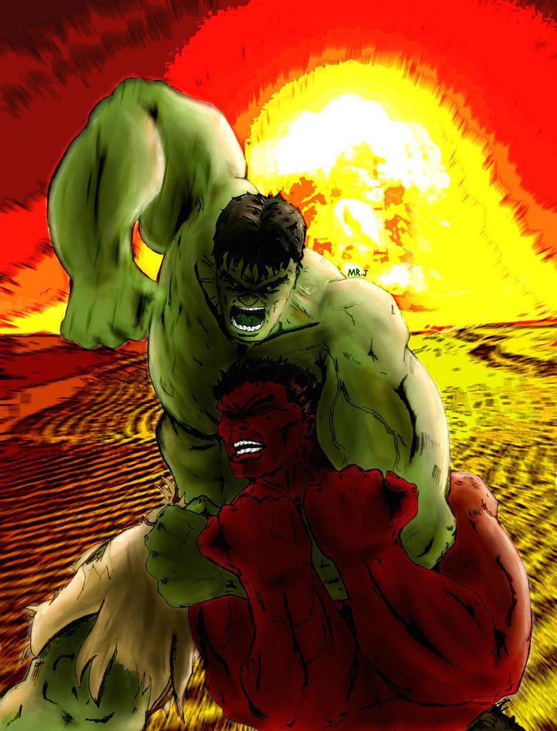 Green Hulk vs Red Hulk by realmrj on DeviantArt