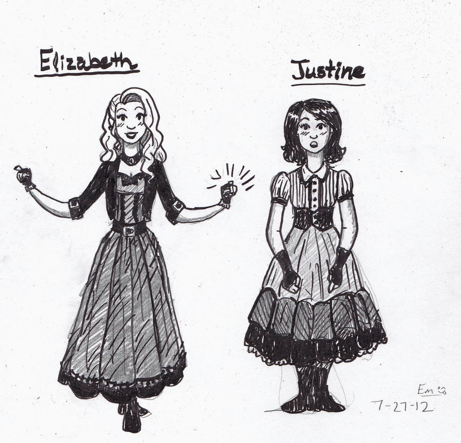elizabeth lavenza and justine moritz by ehmmehtheartmehjor