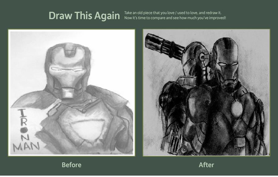 Iron man draw this again by blueskyhigh