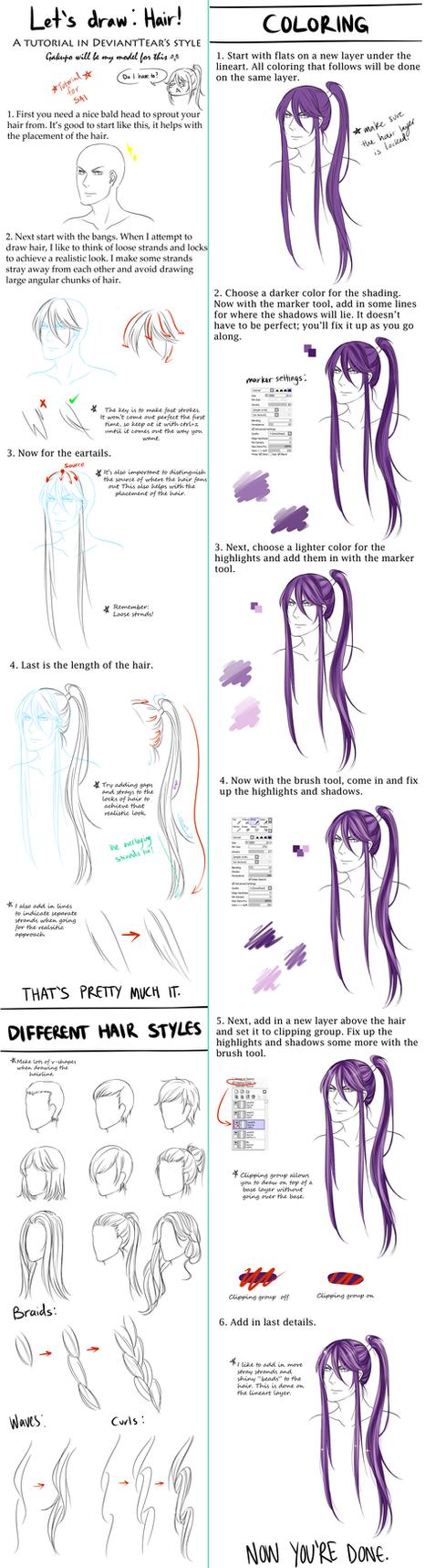 General Hair Tutorial by DeviantTear