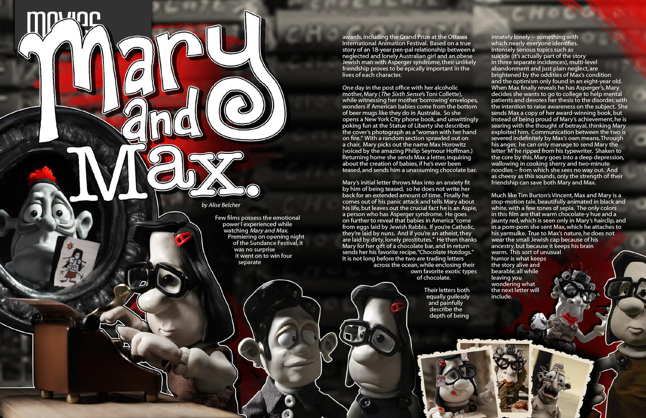 Mary And Max By Two Players On Deviantart