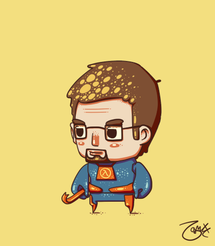 Gordon Freeman by knitetgantt