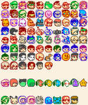Smash Wii U/3DS Character Icons (Updated)