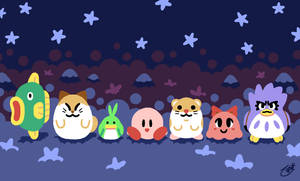 Kirby and Friends Mug Print