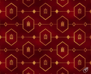 Bronze Turtle Pattern on Red