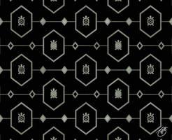 Platinum Turtle Pattern on Black
