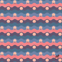Ocean Pearls Pattern - Eventide