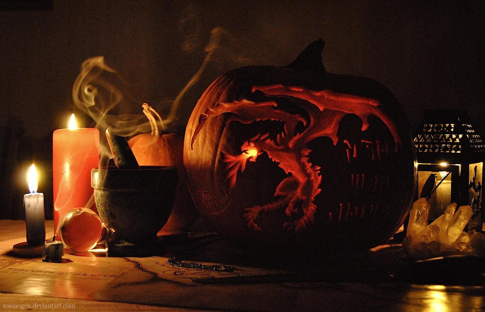 Alduin Jack O' Lantern by Toxinogen
