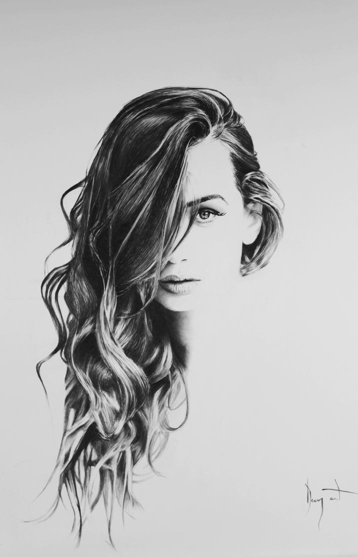hair drawing pencil by Arvyfex