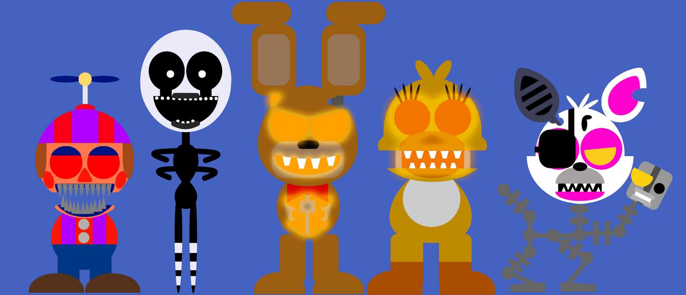 Halloween FNAF 4 Animatronics Minimalistic Style by Fran4444YT on ...