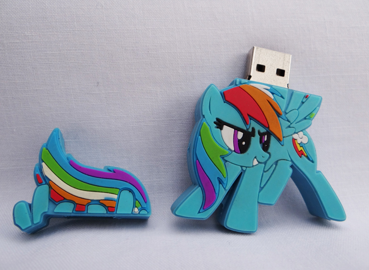 8GB Rainbow Dash Flash Drive by PonyPlush
