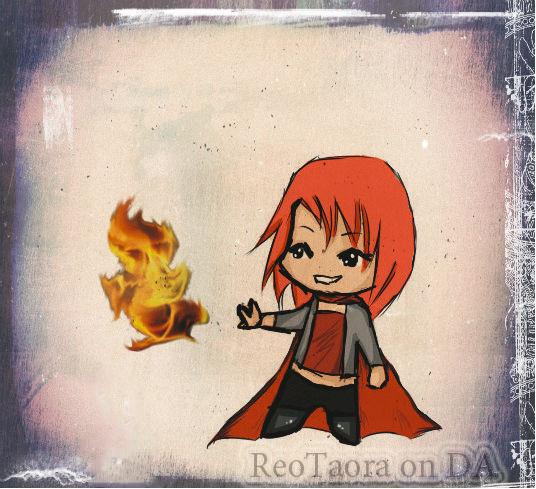 Red demon chibi by ReoTaora