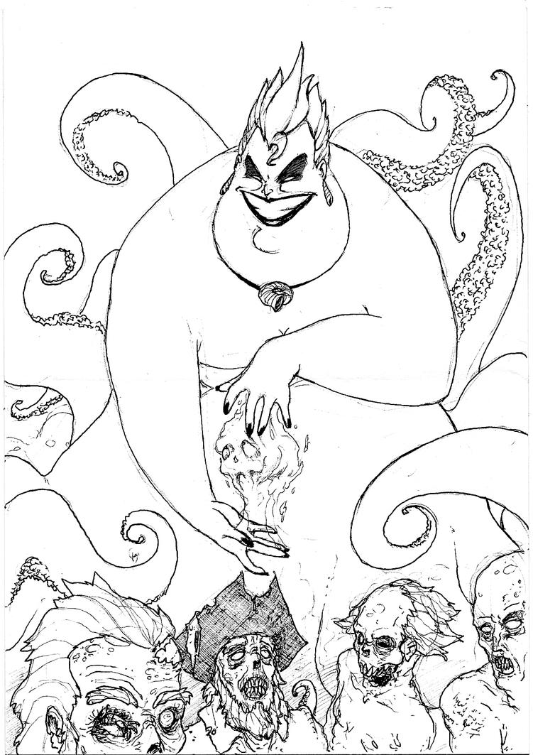 ursula coloring pages ursula the necromancer by faks