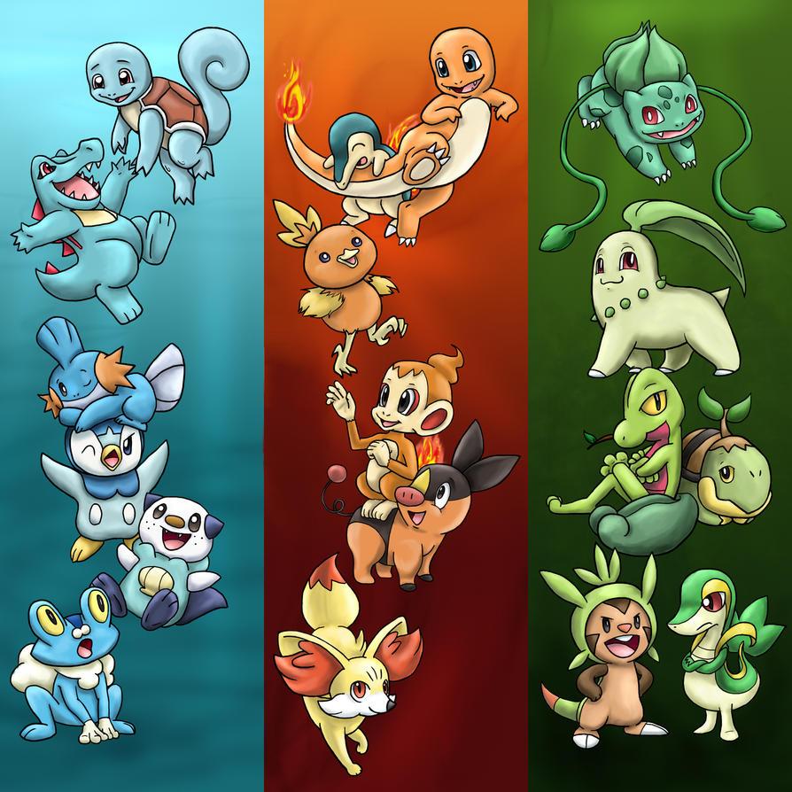 Pokemon Starter ...X And Y Starter Evolutions