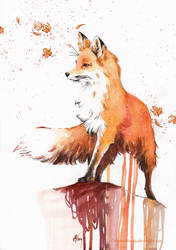 Autumn fox by ChristinaMandy