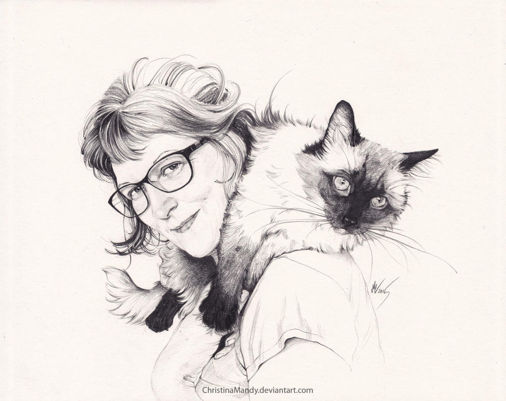 Friends with cats by ChristinaMandy