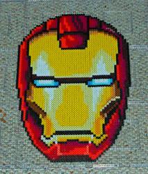 Iron Man (perler) by partyboy3543
