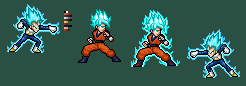 Super Saiyan Blue Stance/Punch by SpriteYena