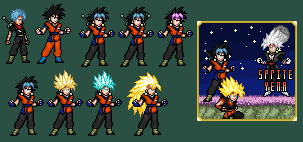 Gleaming Potara of the Future - Fusion Gokunks by SpriteYena