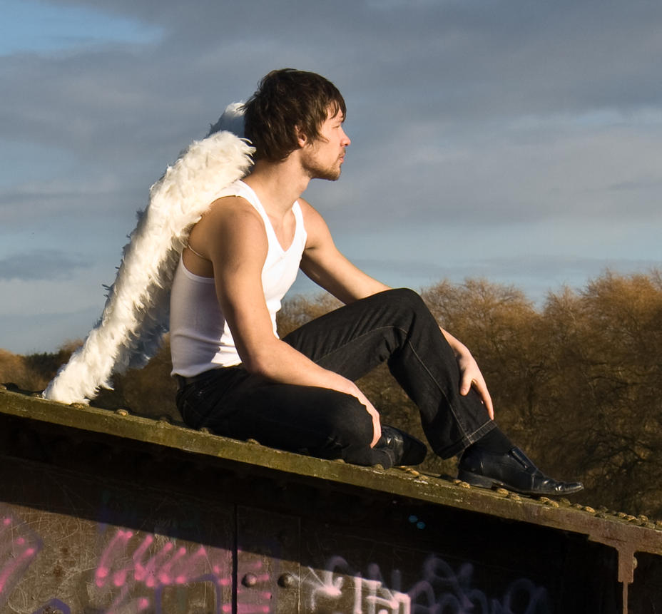 Grunge Angel stock 38 by Random-Acts-Stock