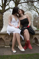Lesbian Angels stock 45 by Random-Acts-Stock