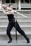 Sword pose stock 8
