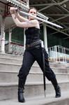 Sword pose stock 46