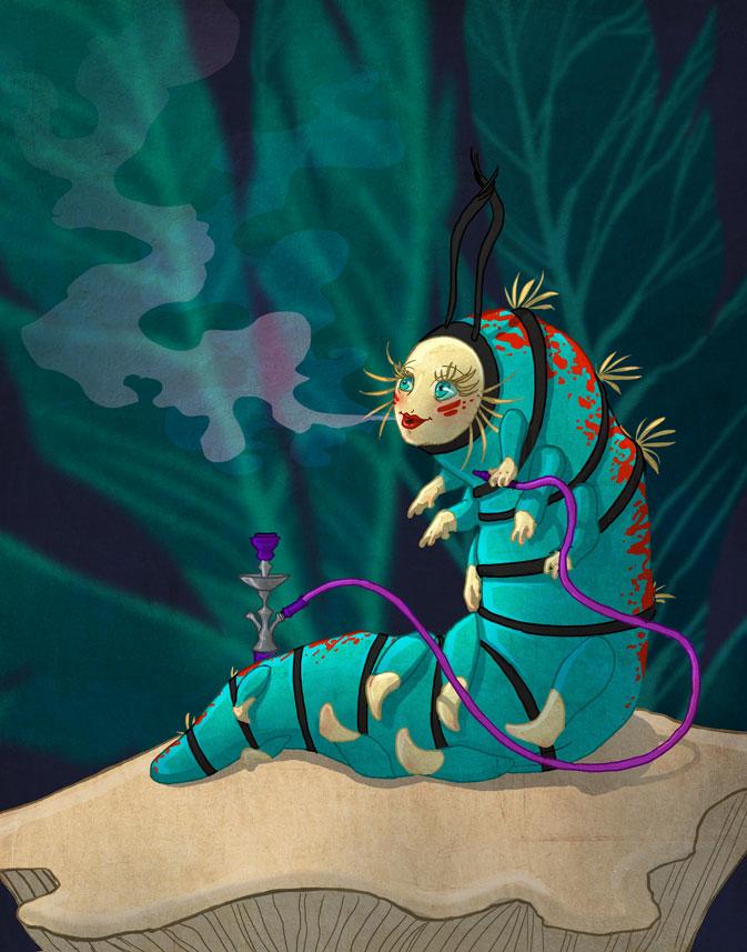 Wonderland Caterpillar by theartful-dodge