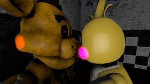Golden Freddy X Toy Chica