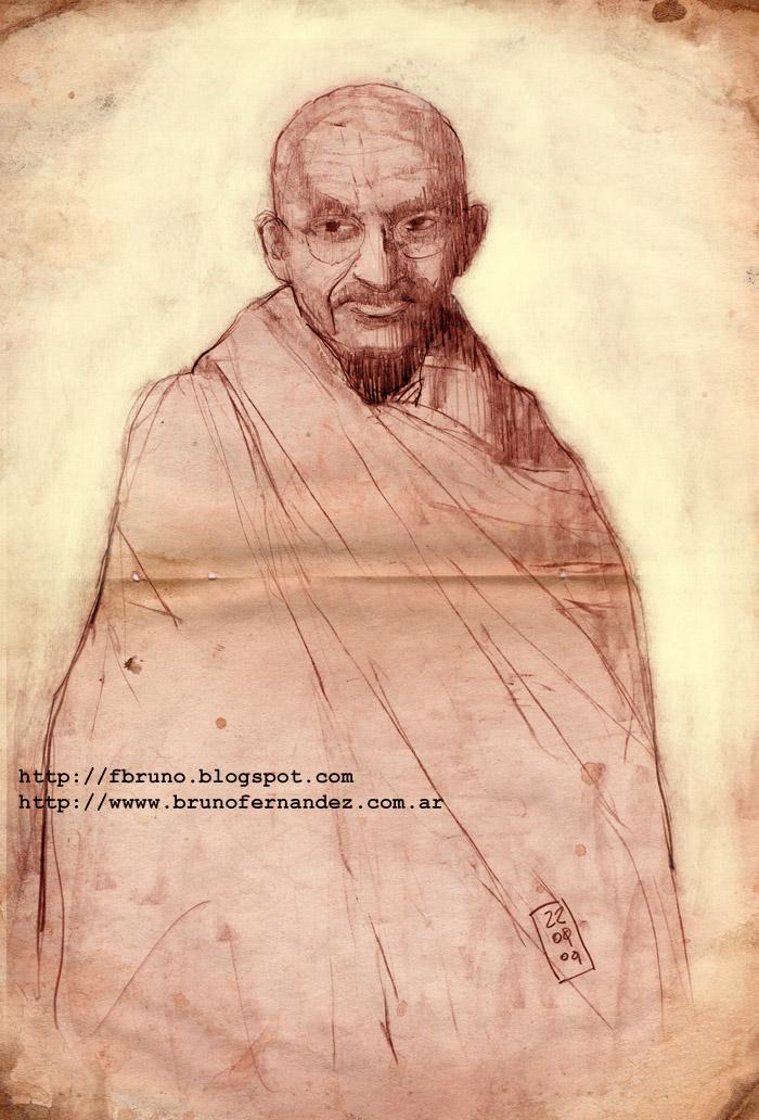 Gandhi by fbruno