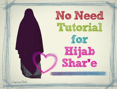 No Need Tutorial for Hijab Shar'e by mahdiy