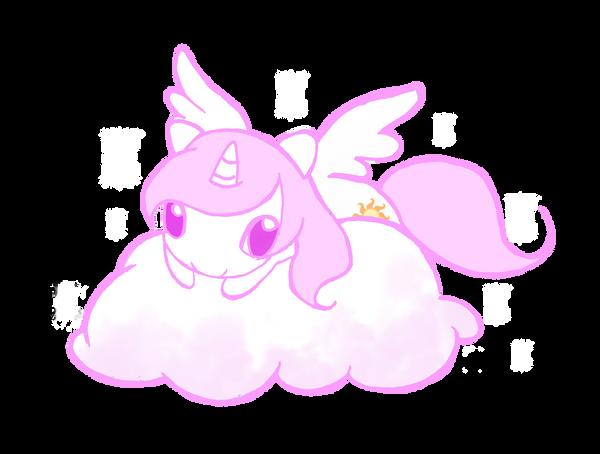 Little Celestia on Cloud by WingsOfImagination