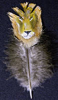 lion feather painting