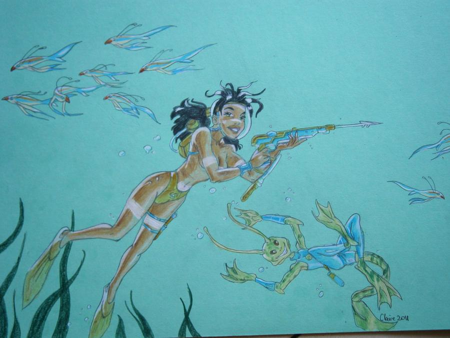 underwater fishing by patty73 on deviantart, Reel Combo