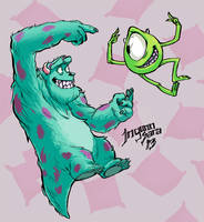 Mike and Sully by ingunnsara