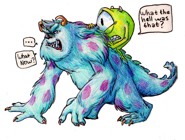 Mike And Sulley By Ingunnsara On DeviantArt