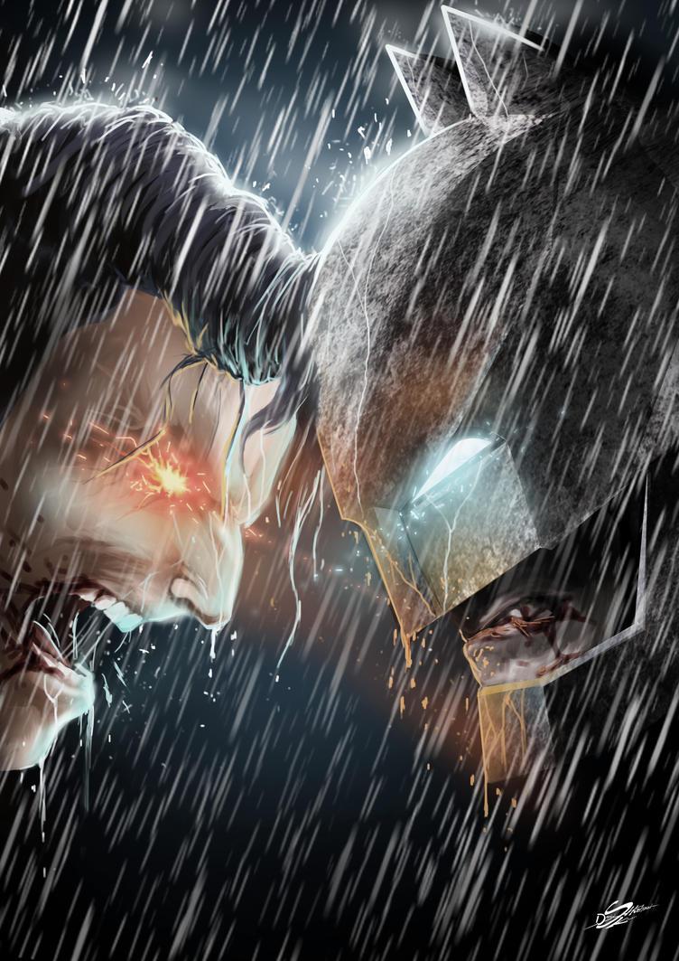 The Man of steel vs The Dark Knight by Danthemanfantastic